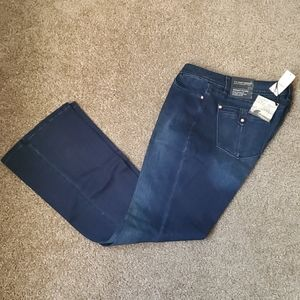 WHBM skinny flare dark wash denim jean size 8